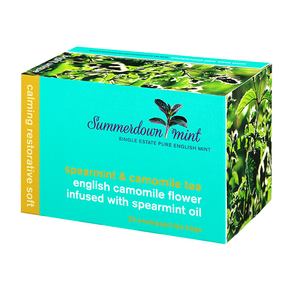 spearmint and camomile tea