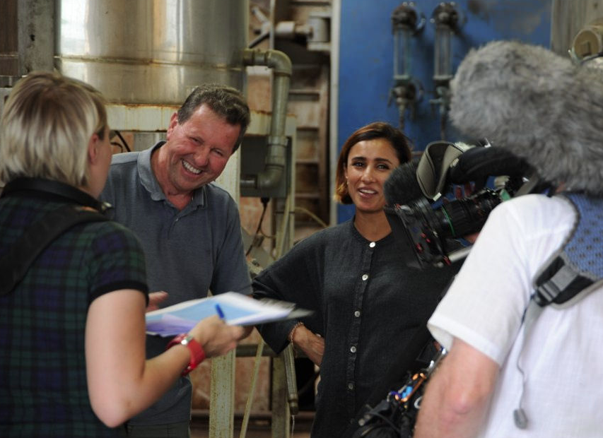 Anita Rani is shown how Summerdown's Peppermint Oil is made.